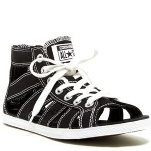 Converse Women's Black Gladiator Sandals, sz 9